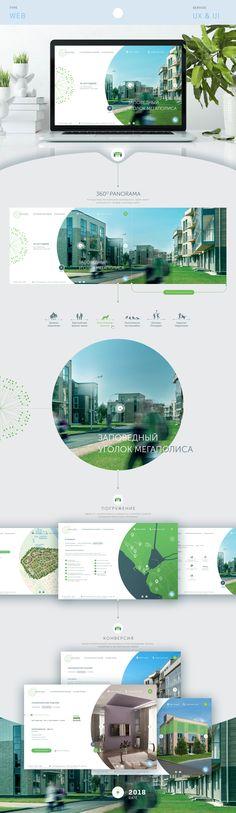 Сайт загородного поселка on Behance
