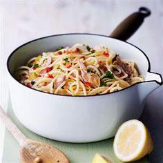 Sardine, chilli and lemon spaghetti