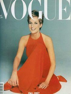 Vintage Vogue magazine covers I Lady Diana — Vogue Vintage, Capas Vintage Da Vogue, Vintage Vogue Covers, Lady Diana Spencer, Princesa Diana, Mario Testino, Charles X, Vogue Magazine Covers, Elisabeth Ii