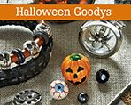 Mix Glass Lockets with Halloween themed charms and beads!