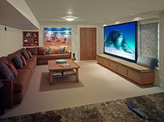 20 beach style home theaters and media rooms that wow basement movie roomplayroom ideasbasement - Home Basement Designs
