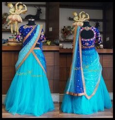 Lovely maroon color velvet blouse with floret lata design hand embroidery thread work. Lehenga Choli Wedding, Lehenga Saree Design, Half Saree Lehenga, Lehnga Dress, Lehenga Designs, Bridal Mehndi Dresses, Indian Gowns Dresses, Wedding Dress, Half Saree Designs