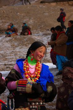 China ethnic minority girl