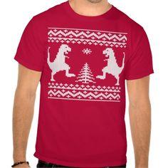 Ugly Christmas Dinosaurs Shirts