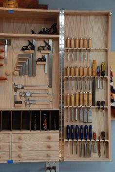 Hanging Tool Cabinet—a perfect solution for kitchen utensils, especially knives!