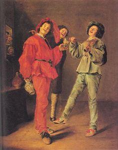 Trois garçons Merry de décision, huile sur toile de Judith Leyster (1609-1660, Netherlands)