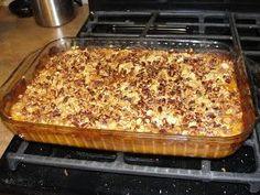 Pumpkin Crisp  1 (15-oz.) can pumpkin 1 cup evaporated milk 1 cup sugar 1 tsp. vanilla extract 1/2 tsp. ground cinnamon 1 (18.25-oz.) packag...