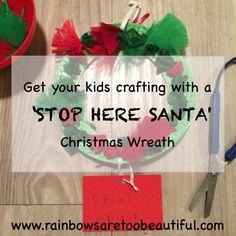 Use this fun motor skills craft activity to make sure Santa stops at your place ;-)