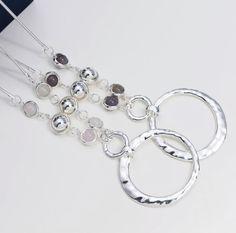 Grey Agate & Rose Quartz | Merx Fashion Chain | merxwholesale.com #silverplated #genuine #ss17