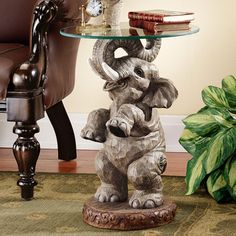 Design Toscano Design Toscano Good Fortune Elephant End Table