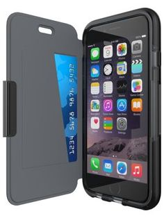 Evo Wallet Case by tech21  Shown with Apple iPhone 6/6s  Front-right view…