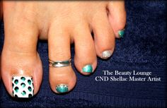 Shellac Toes  Arty  https://www.facebook.com/TheBeautyLoungeSalcombe