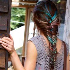 French fishtail braid with colors