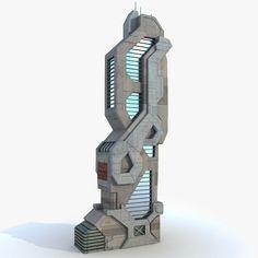 57 Ideas Sci Fi Concept Art Building Futuristic Architecture For 2019 Futuristic City, Cyberpunk City, Futuristic Technology, Futuristic Design, Minecraft Creations, Minecraft Designs, Concept Architecture, Futuristic Architecture, Sci Arc