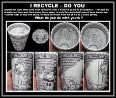 foam cup art - Google Search