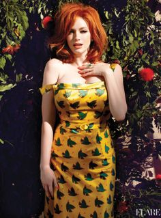 Christina Hendricks in LWren Scott - May 2012 / Photography: Max Abadian / Styling: Lawren Sample