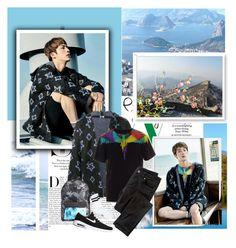 """BTS: JIN"" by janjanzira-1 ❤ liked on Polyvore featuring Karl Lagerfeld, WALL, Bomedo, Yves Saint Laurent, Marcelo Burlon, Wrap, Billabong, NIKE, Topman and men's fashion"