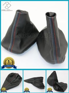 [Visit to Buy] For BMW 3 Series E36 E46 M3  New Car Shift Gear Stick Manual Handbrake Gaiter Shift Boot Black Leather Boot Car-Styling #Advertisement