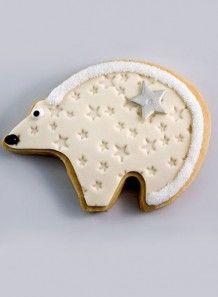 Biscuit Ours polaire– Sablé à la vanille décoré de pâte à la guimauve
