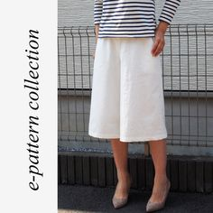 Culottes | Another cool Japanese sewing pattern. Learn to sew them at www.japanesesewingpatterns.com