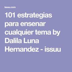 101 estrategias para ensenar cualquier tema by Dalila Luna Hernandez - issuu