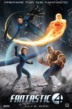 Fantastic 4 Movie Poster by ~wobblyone on deviantART Fantastic 4 Movie, Fantastic Four Marvel, Mister Fantastic, Marvel Dc Movies, Superhero Movies, Marvel Heroes, Marvel Comics, Comic Book Characters, Marvel Characters