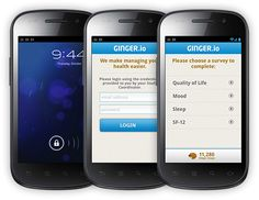Ginger.io provides patients with a mobile application that helps them better understand and manage their health.