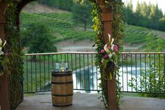 My winery wedding alter