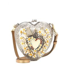 mytheresa.com - Sacred Heart embellished shoulder bag - Shoulder bags - Bags - Dolce & Gabbana - Luxury Fashion for Women / Designer clothing, shoes, bags