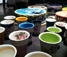 Ceramics at Martket. Loft Light Studios in El Paso, Texas.