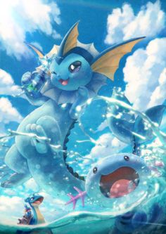 Water pokemons by TOYCAT/とおい