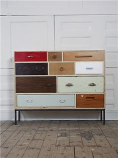 100percentdelicate: Upcycled Furniture. Can't really see how he did this, but it looks awesome...