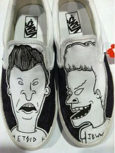 Ha! Beavis and Butthead Vans slip-ons