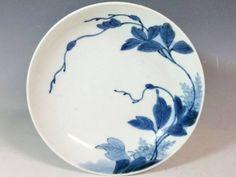 (翔)古伊万里 藍鍋島 1750年前後 蔓草文 古鍋島 五寸皿 後期鍋島_画像1