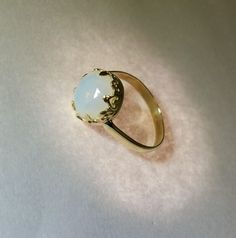 handmade ring with slovakiaopal. unique. Slovakia opal. yellow gold 585/1000. wedding ring