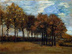 The Alley of Trees in Autumn by Vincent van Gogh The Fitzwilliam Museum      Date painted: 1885