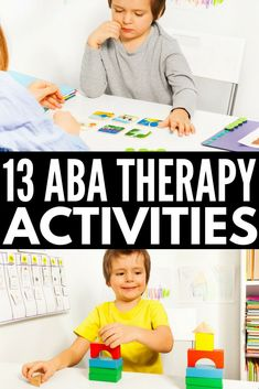 From teaching emotional regulation, anger management, and social thinking concepts to demonstrating life skills, how to follow directions, and aiding in language development, these ABA therapy activities for kids with autism spectrum disorder will give you heaps of ideas you can use at school, in therapy, and at home! We've even included a few free printables! #autism #ABAtherapy #specialneeds #specialneedsparenting #autismactivities #learningthroughplay