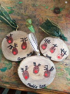 Diy christmas ornaments 224194887686939760 - 0023 Rustic DIY Wooden Christmas Ornaments Ideas Source by erinmschultz Preschool Christmas, Christmas Crafts For Kids, Diy Christmas Gifts, Holiday Crafts, Wooden Christmas Ornaments, Christmas Wood, Raindeer Ornaments, Kids Ornament, Merry Christmas