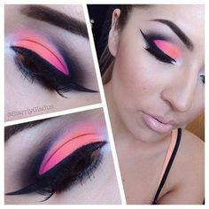 Orange & Pink Cut-Crease
