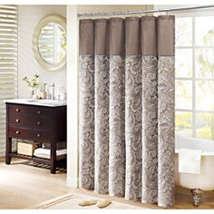 @Overstock - Add some classic style to your bathroom with this faux silk shower curtain from Whitman. Featuring a beautiful woven taupe jacquard in paisley print, this shower curtain will set the tone for the design and style of your guest bathroom.http://www.overstock.com/Bedding-Bath/Madison-Park-Whitman-Jacquard-Faux-Silk-Shower-Curtain/6816642/product.html?CID=214117 $26.09