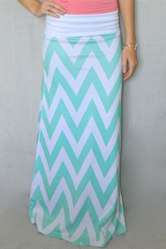 Mint Chevron Maxi Skirt | eHow