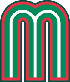 Mexico  Primary Logo (2006) - A green, white and red 'M'