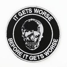 Image of Worse Patch Punk Patches, Cool Patches, Pin And Patches, Iron On Patches, Jacket Patches, Handpoke Tattoo, Battle Jacket, Estilo Rock, Iron On Embroidered Patches