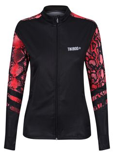 Featuring flashes of red snakeskin across the upper back and sleeves, the black Snakebite training jacket is perfect for keeping you warm at sports events, pre-workout or during autumnal walks. Made from soft, breathable fabric, it's lightweight and wicks away moisture including sweat and rain showers.  With a fully zipped front, it's a versatile and practical top layer with thumbholes to keep sleeves in place. Snakebite, Running Jacket, Autumnal, Workout Tops, Snake Skin, Walks, Showers, Adidas Jacket, Motorcycle Jacket