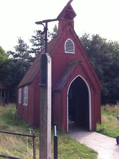 Gorgeous tin chapel at chiltern open air museum chalfont st giles. My perfect studio just need a ton of corrugated tin!!??