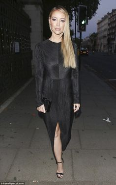 f2998093f7 Lauren Pope goes for glamour in elegant floor-length black gown
