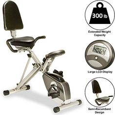 Exerpeutic Folding Foldable Recumbent Exercise Bike with Pulse Folding Exercise Bike, Best Recumbent Exercise Bike, Best Exercise Bike, Upright Exercise Bike, Upright Bike, Exercise Cycle, Healthy Exercise, Good Enough, Electric Treadmill