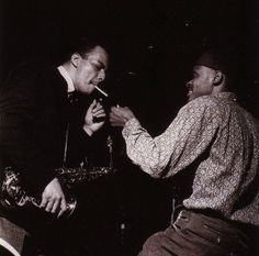 Jackie McLean & Tommy Turrentine during the recording of McLean's 'A Fickle Sonance' session, 1961. Francis Wolff