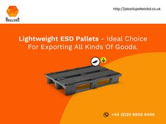 Nestable and manufactured with electrically conductive materials, these pallets can be used for transporting all types of materials, including electrostatics ones. It has slot straps too. Information About Plastic, Conductive Materials, Plastic Pallets, Pallet Crates, Slot