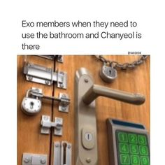 They're all like gotta lock this door or suffer another heart attack thanks to Chanyeol-.-